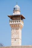 Jerusalem, Old City, Israel, Middle East, minaret, mosque, Al Aqsa Mosque, islam, religion, Temple Mount. The minaret of Al Aqsa Mosque on September 6, 2015. Al Royalty Free Stock Photo