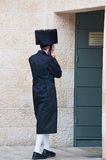 Jerusalem, Old City, Israel, Middle East. An Orthodox in the Old City on September 6, 2015. Orthodox Jews are those who strictly follow the laws of Torah, the royalty free stock photo