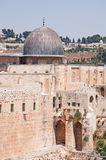 Jerusalem, Old City, Israel, Middle East, mosque, Al Aqsa Mosque, islam, religion, Temple Mount, ruins, skyline, cityscape. View of Al Aqsa Mosque on September 6 Royalty Free Stock Image