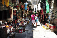 Jerusalem Old City Market Stock Photo