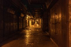 Jerusalem Old City Market Alley royalty free stock photo