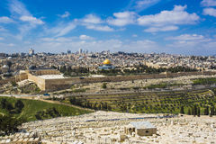 Jerusalem old city from Mount of Olives Royalty Free Stock Images