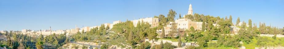 Jerusalem old city and Mount Zion Royalty Free Stock Photo