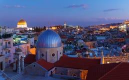 Jerusalem Old City at Night, Israel Royalty Free Stock Photos