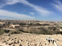 Jerusalem. Old city from the observation point. Stock Photos