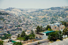 Jerusalem old city. Residential district in Jerusalem view from above Stock Photo