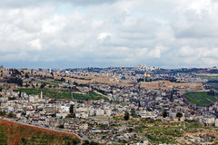 Jerusalem Old City and Temple Mount Stock Photos