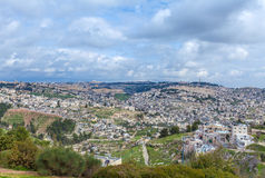 Jerusalem Old City and Temple Mount Stock Photo
