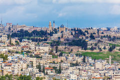 Jerusalem Old City and Temple Mount Royalty Free Stock Photo