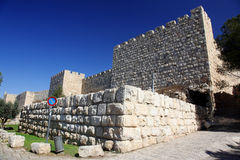 Jerusalem old city wall Royalty Free Stock Photos