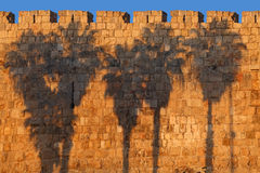 Jerusalem Old City Wall Royalty Free Stock Photography