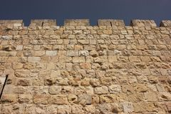 Jerusalem Old City walls Royalty Free Stock Images