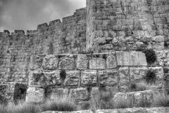 Jerusalem old city walls Royalty Free Stock Photo