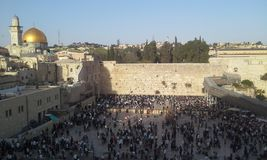 Jerusalem old city western wall Stock Images