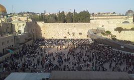Jerusalem old city western wall Stock Photo