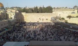 Jerusalem old city western wall Stock Photo