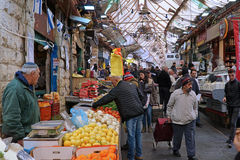 Jerusalem old fashioned central food market Royalty Free Stock Photography