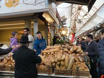 Jerusalem old fashioned central food market Stock Image