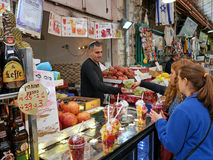 Jerusalem old fashioned central food market Stock Photography