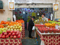 Jerusalem old fashioned central food market Stock Photos