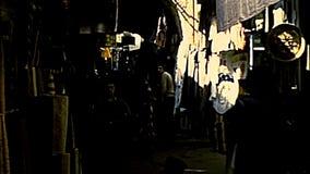 Jerusalem old market and people stock video footage