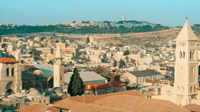 Jerusalem, old town, dome, panoramic stock video footage