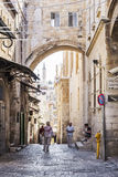Jerusalem old town street in israel Stock Images