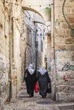 Jerusalem old town street in israel Stock Image