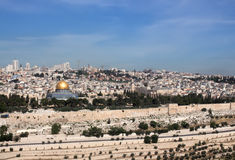 Jerusalem Old. View of Temple Mount Stock Photography