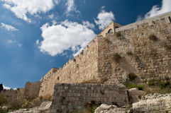 Jerusalem old walls Stock Image