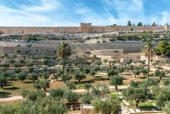 Jerusalem old walls, Israel Royalty Free Stock Photography