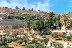 Jerusalem old walls, Israel Stock Images