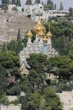Jerusalem ortodox kyrka av Mary Magdalene Royaltyfri Foto