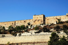 Jerusalem-Ostwand der alten Stadt stockfoto