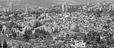 Jerusalem - Outlook from Mount of Olives Stock Photos