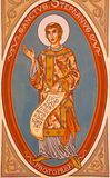 Jerusalem - The painting of St. Stephen in presbytery of st. Stephen church from 20. cent. Royalty Free Stock Photography