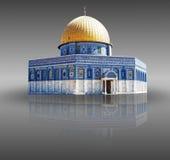 Jerusalem palestine - kupolen av rocken Arkivfoto