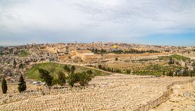 Jerusalem-Panorama lizenzfreies stockbild
