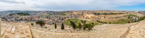 Jerusalem panorama Arkivbilder