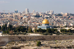 jerusalem panorama Arkivfoton