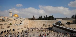 Jerusalem-Panorama Stockbild