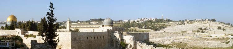 Jerusalem-Panorama Stockbilder