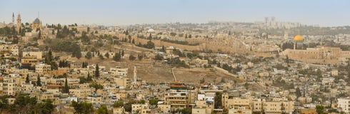 jerusalem panorama Royaltyfria Bilder