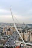 Jerusalem panorama av den moderna staden med en fågelperspektiv Royaltyfri Foto