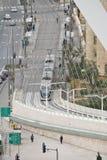 Jerusalem panorama av den moderna staden med en fågelperspektiv Royaltyfria Bilder