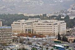 Jerusalem panorama av den moderna staden med en fågelperspektiv Fotografering för Bildbyråer