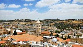 Jerusalem panorama- flyg- sikt Royaltyfri Bild