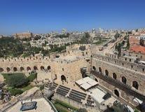 Jerusalem panorama från det Phasael tornet Arkivbilder