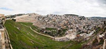 Jerusalem panorama - Israel Royaltyfria Foton