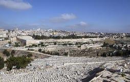 Jerusalem Panorama. Israel, Jerusalem - view from Mount of Olives Stock Images